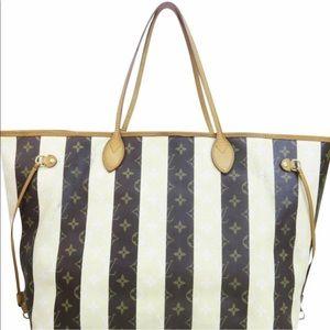 Louis Vuitton Rayures Gm Neverfull Monogram Bag